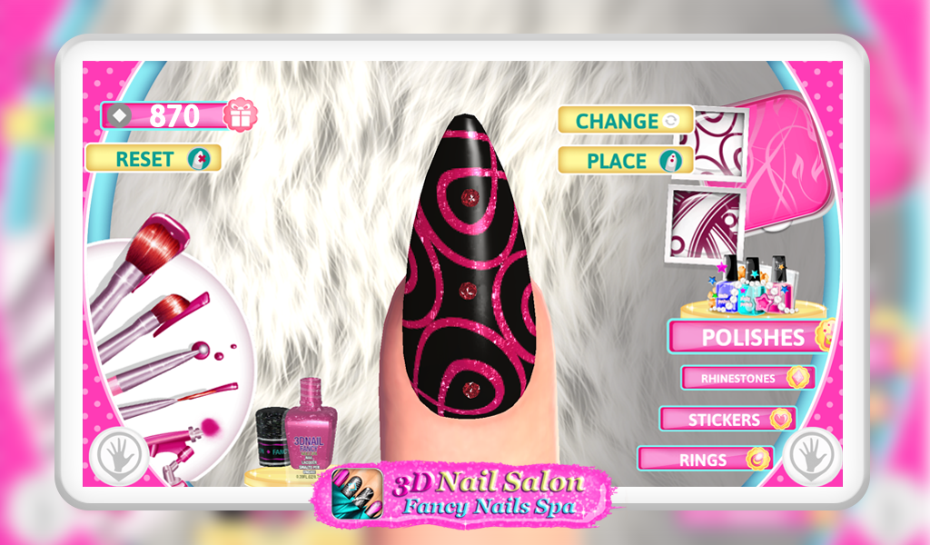 3d nail salon fancy nails spa android apps on google play for 3d beauty salon games