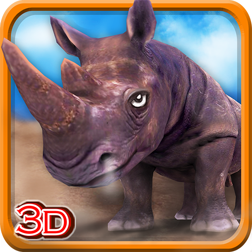 怒っているRhinoのシミュレータ3D 模擬 LOGO-玩APPs
