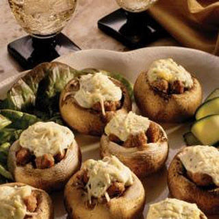 Garlic and Sausage Stuffed Mushrooms
