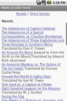 Screenshot of Works of Jules Verne