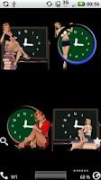 Screenshot of School Girl Clocks Widget