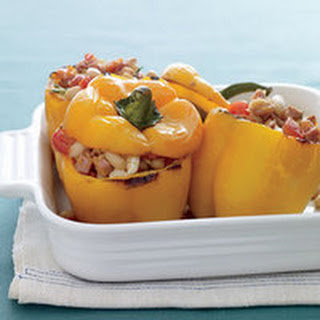 Pork-and-Beans-Stuffed Peppers.
