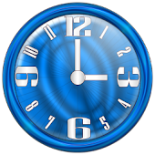 Nice Blue Clock Widget
