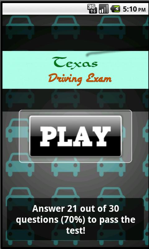 TX Driving Exam - screenshot