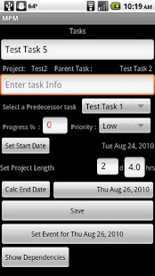 MPM - Mobile Project Manager - screenshot thumbnail