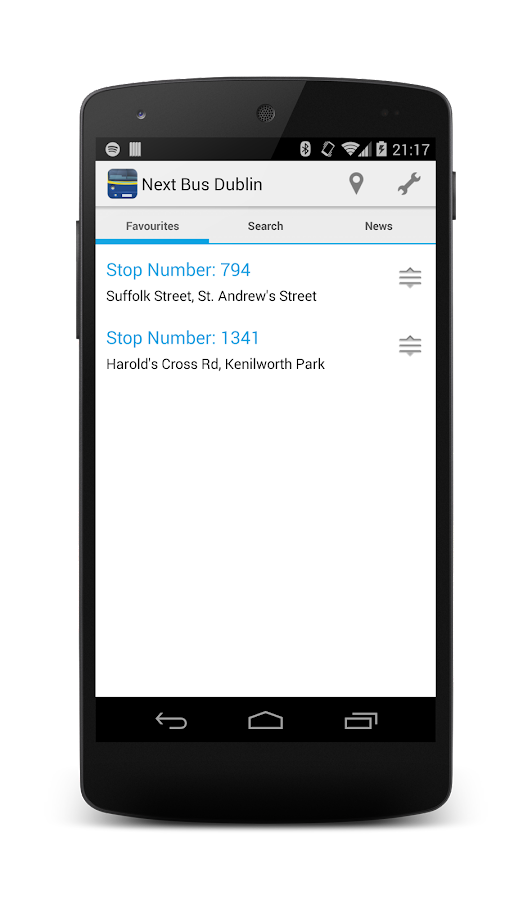 Next Bus Dublin Free - screenshot