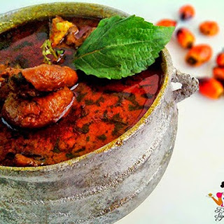 Ofe akwu (Palm nut soup)