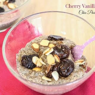 Cherry Vanilla Almond Chia Pudding.