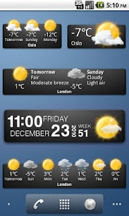 Weather widgets - screenshot thumbnail