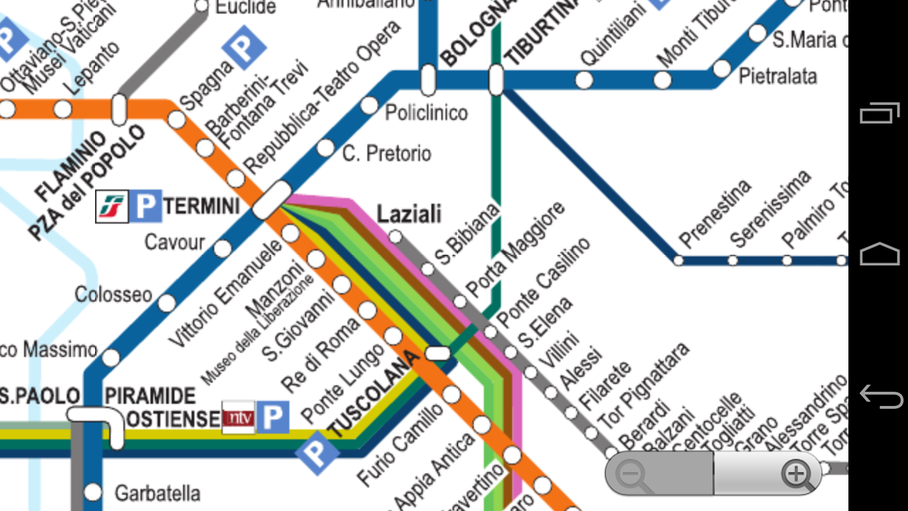 Roma Subway Map