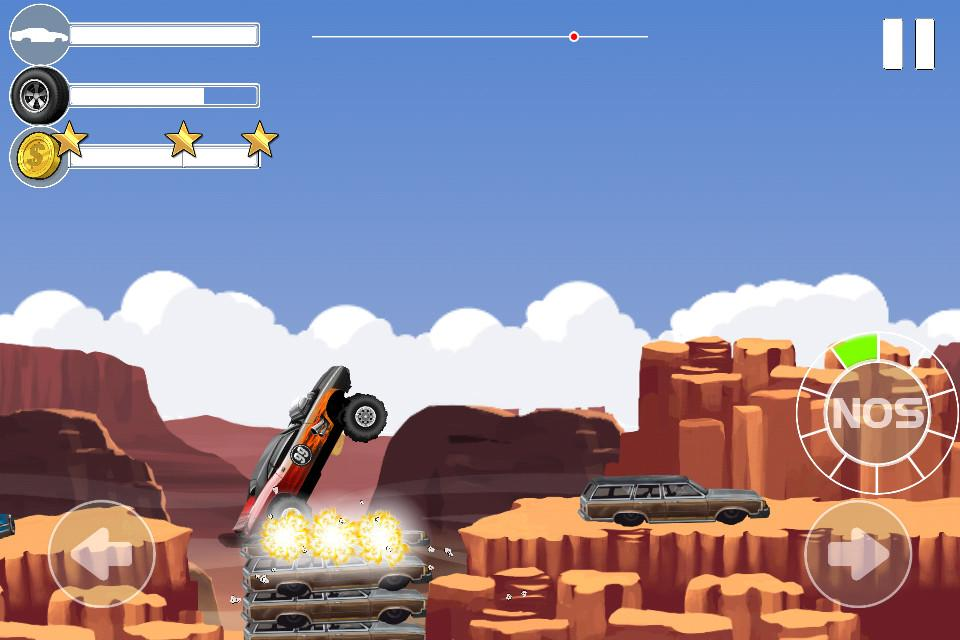 Monster Car Stunts- screenshot