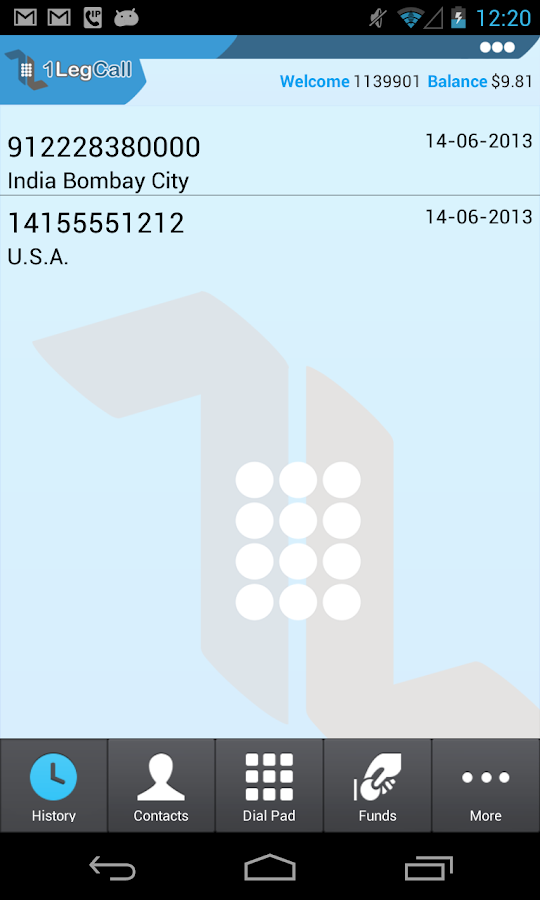 1LegCall - VoIP Dialer - screenshot