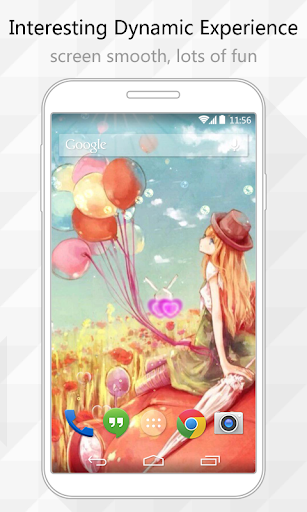 Balloon Girl Live Wallpaper