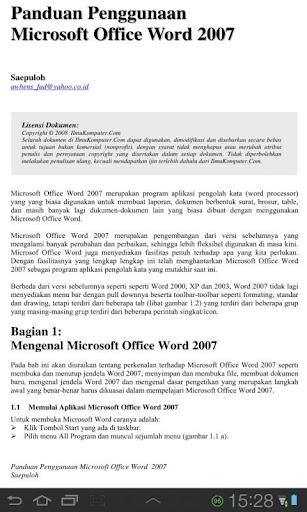 Panduan Microsoft Word