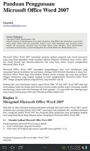 Panduan Microsoft Word - screenshot thumbnail
