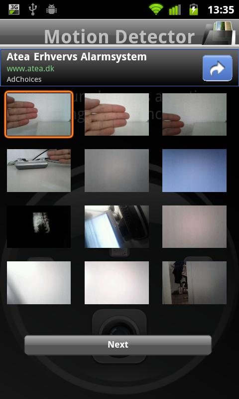 Motion Detector Pro - screenshot