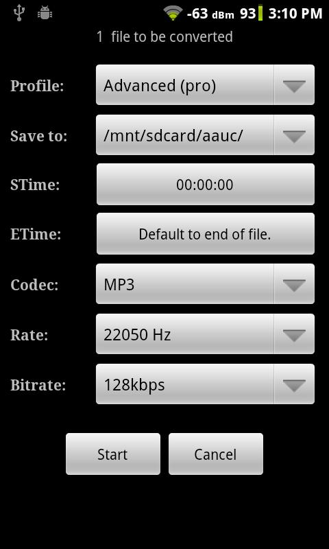 Audio Editor for Android - screenshot