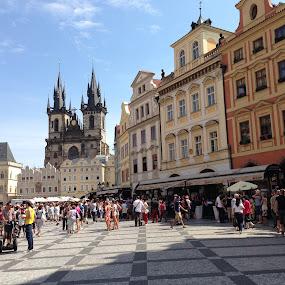 Praga by Kseniya Maksimenko - City,  Street & Park  Street Scenes ( traveling, architecture )