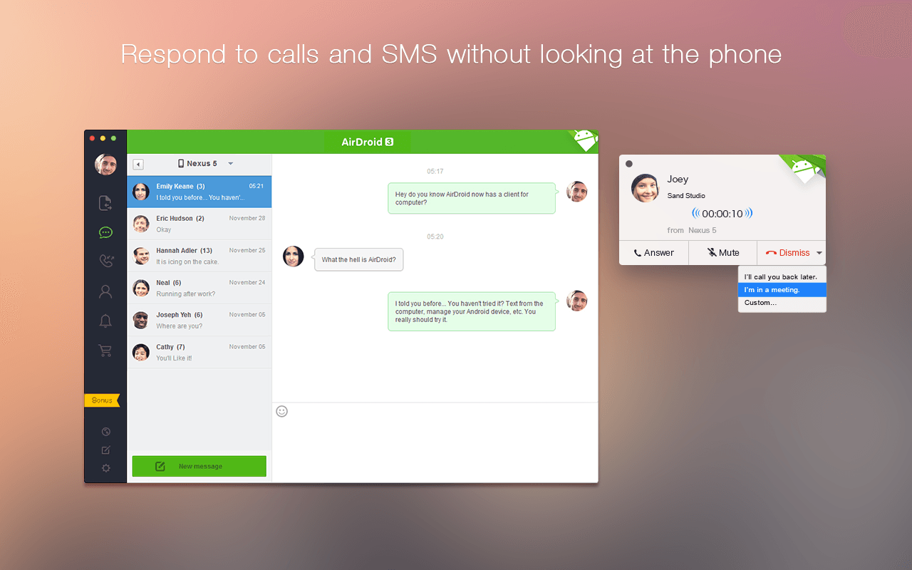 AirDroid - Android on Computer - screenshot