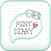 Mint Diary go launcher theme