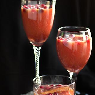 Cranberry, Orange & Cinnamon Cocktail.