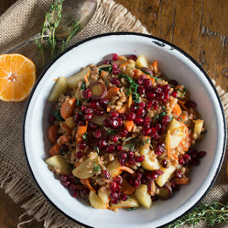 Farro Carrot Pomegranate Salad