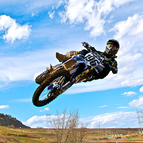 Up Close by Zachary Zygowicz - Sports & Fitness Motorsports ( yamaha, motocross, dirtbike, motorcycle, whip )