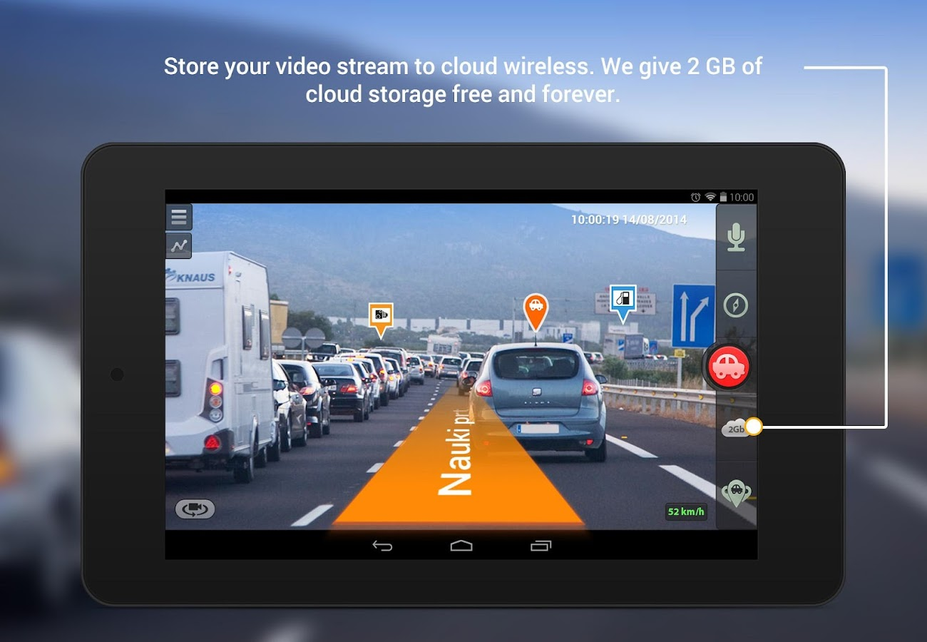 Car dvr gps navigator screenshot