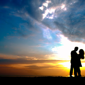 love by Khalil Morcos - People Couples ( love, sunset, lovely, couple, loving,  )