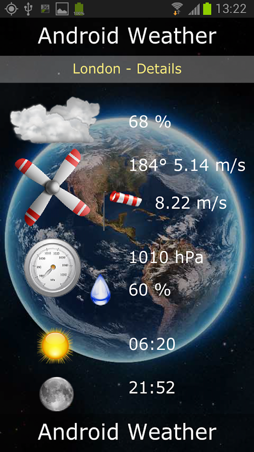 Android Weather Ad free - screenshot