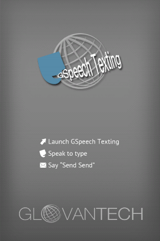 Hands free speech sms/texting- screenshot