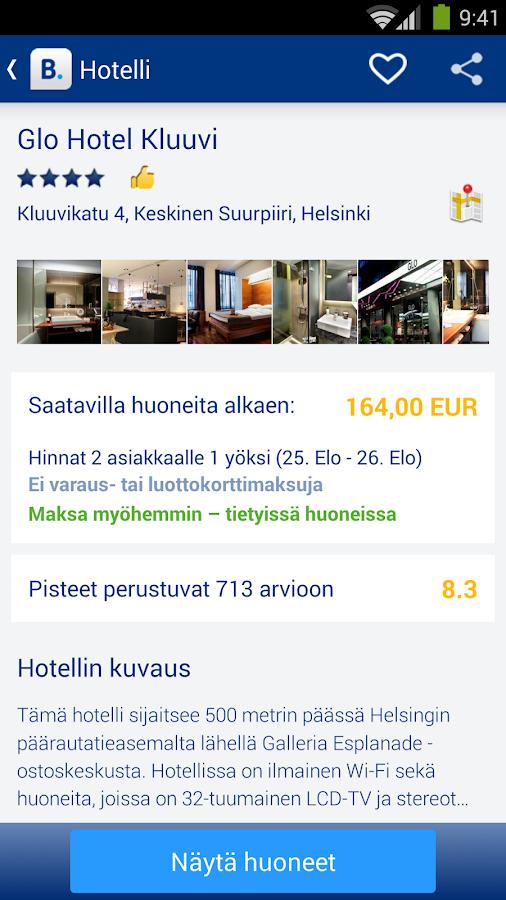 Booking.com – hotellit netissä – kuvakaappaus