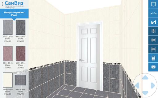 СанВиз - раскладка плитки в 3D