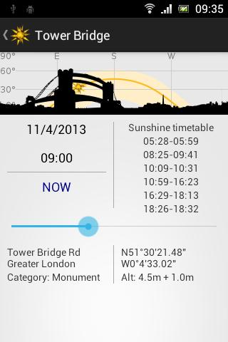 Terdelle Sunshine Tracker- screenshot