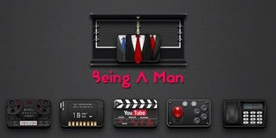Screenshot of Being A Man GO Launcher Theme