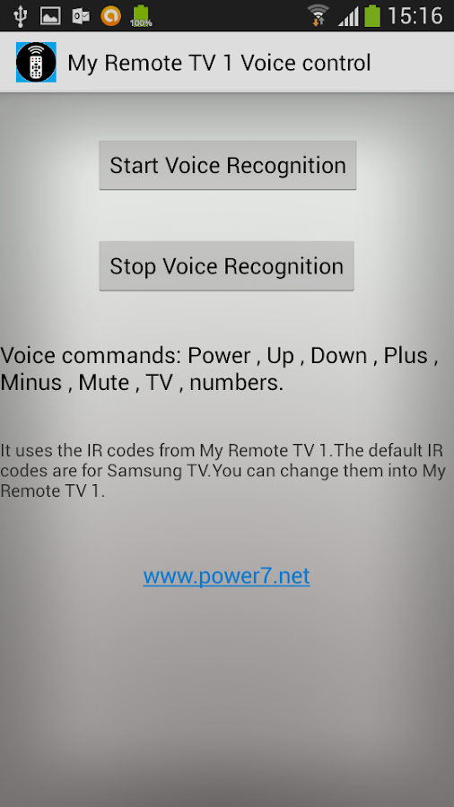 Samsung IR - Universal Remote - screenshot