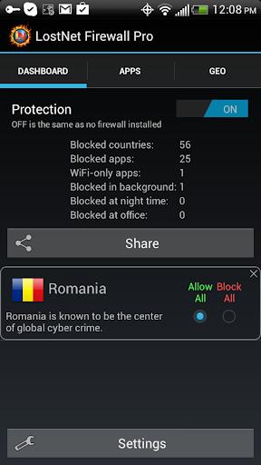 LostNet NoRoot Firewall Pro