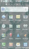 Screenshot of Winter Snowflake Theme Live