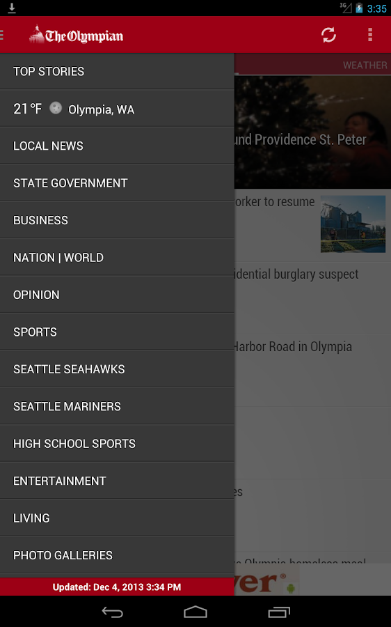 The Olympian- Olympia WA news - screenshot