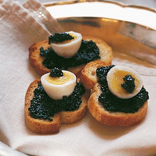 Quail Eggs with Caviar.