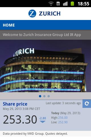 Zurich Investors and Media App