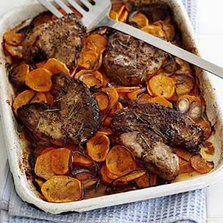 Lamb Steaks with Rosemary Sweet Potatoes Recipe
