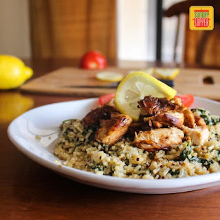 Chicken Spinach Quinoa and Brown Rice #SundaySupper #ChooseDreams