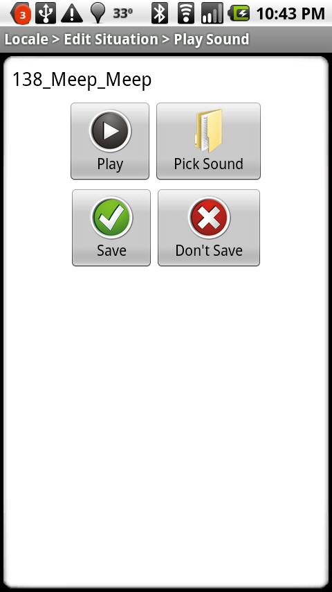 Locale Play Sound Plug-in - screenshot