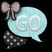 GO SMS THEME/TurquoisePolkaDot
