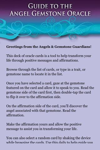 Angel Gemstone Oracle Cards - screenshot