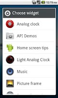 Screenshot of Light Analog Clock