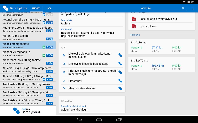 Mediately Baza Lijekova - screenshot