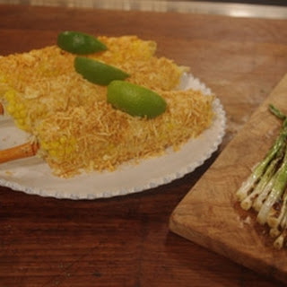 Corn On The Cob With Mayo And Cheese.