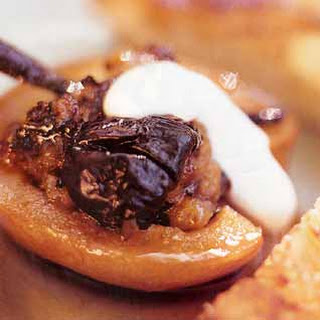 Quinces and Prunes with Caramelized Brioche